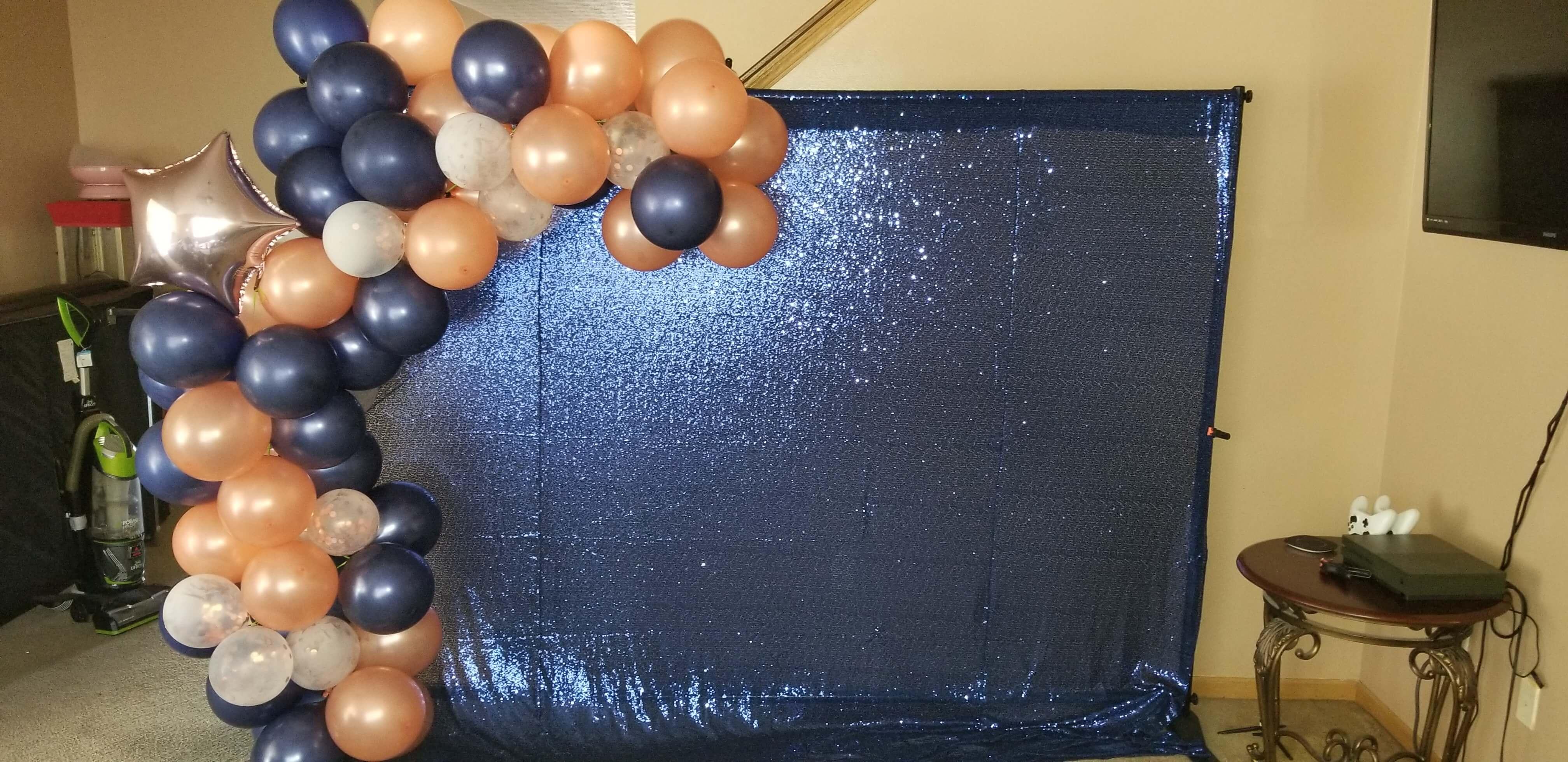 Ballon garland backdrop
